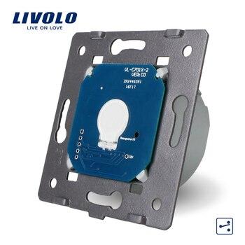 Livolo стандарт ЕС, 1 банда 2 способ управления, AC 220 ~ 250 В, настенный сенсорный выключатель света без стеклянной панели, VL-C701S