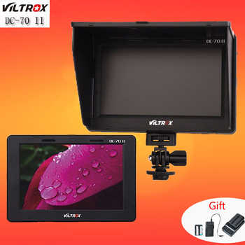Viltrox 7'' DC-70 II 1280x800 HD LCD HDMI AV Input Camera Video Monitor Display & Battery & Charger for Canon Nikon DSLR BMPCC - DISCOUNT ITEM  0% OFF All Category