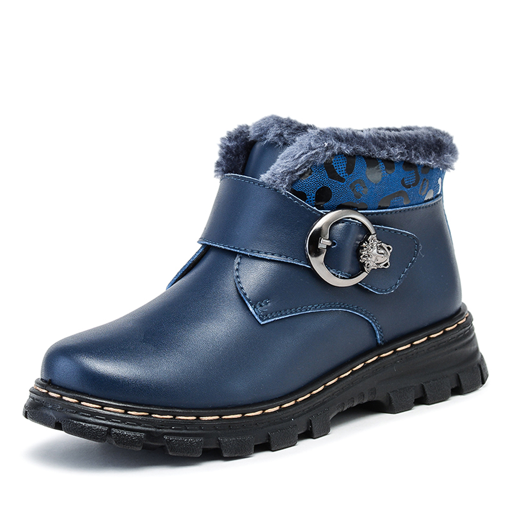 2016 autumn and winter boys shoes children warm velvet leather boots Martin boots Korean version of students shoes CB-006