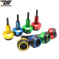 ZS Racing Universal CNC Motorcycle Engine Frame Slider Fairing Guard Crash Pad Side Protector For HONDA