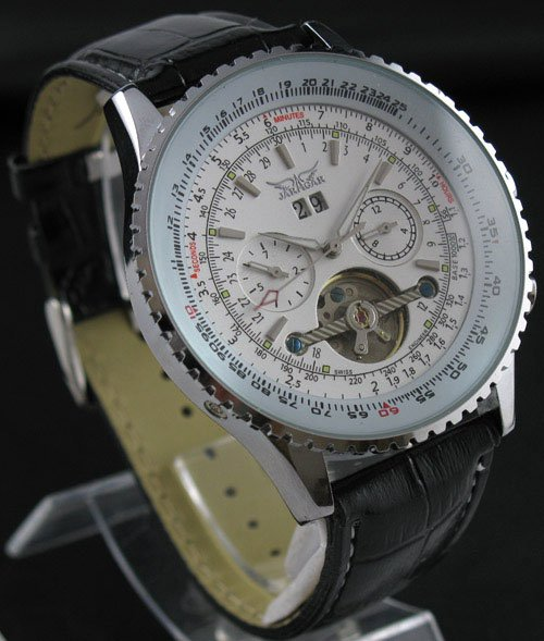 Mens AUTO Mechanical 5 Hands Multi Function Fashion Watch