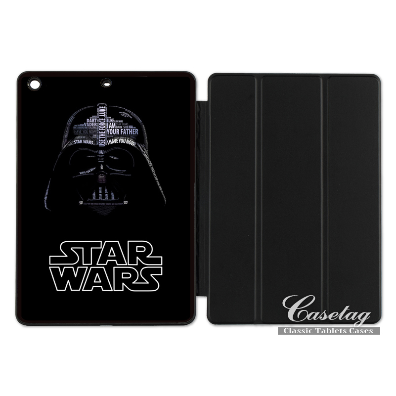 Vintage Star Wars Darth Vader Funny Smart Cover Case For Apple iPad 2 3 4 Mini Air 1 Pro 9.7 10.5 12.9 New 2017 a1822