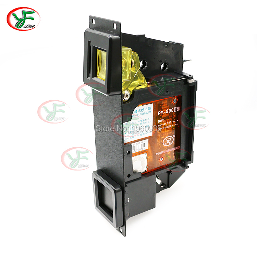 CPU Comparable Coin Selector + Coin Acceptor Holder Iron Panel American Bracket For Arcade Game Machine
