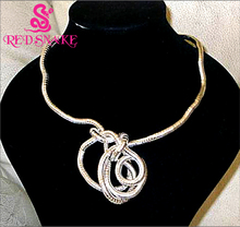 RED SNAKE Hurry! Wear You Like Wear Twisted Necklace 900mm Length Bendable Snake Chain Flexible Twist Jewelry Necklaces(China)