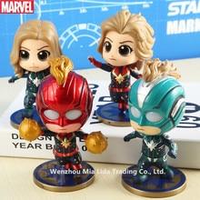 Hasbro Avengers 4pcs/set Captain Marvel Shake your head and glow Model toys
