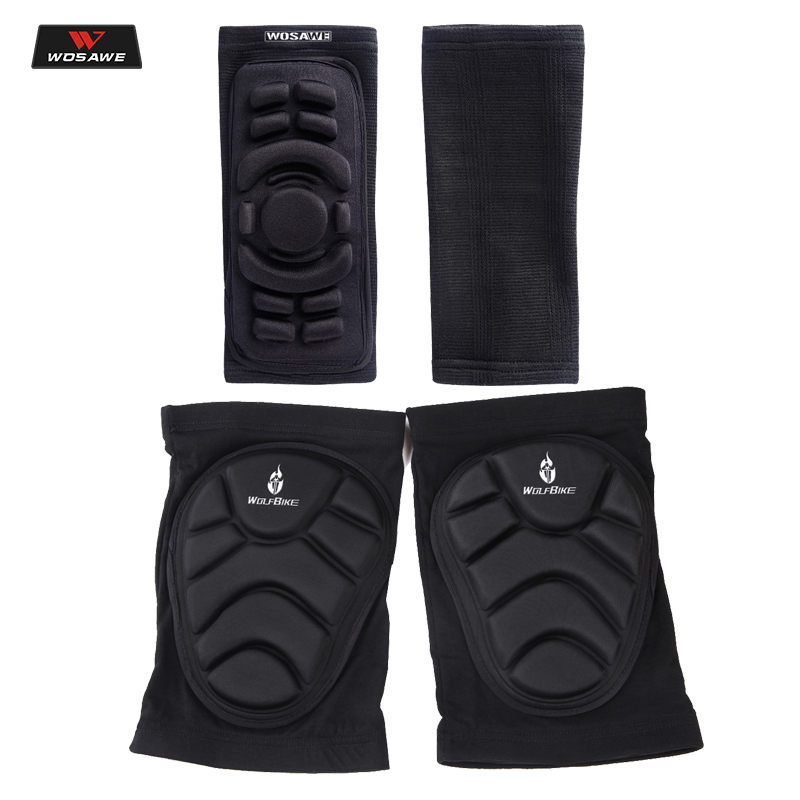 WOSAWE Sports Football Basketball Motorcycle Elbow Knee Pads Protector Breathable Compression Knee Support Protection 1 Pair EVA