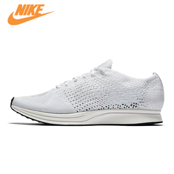 Original New Arrival Authentic NIKE Flyknit Racer Men's Breathable Low Top Running Shoes Sneakers Trainers