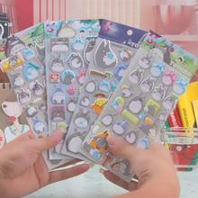 Cute Totoro luminous stickers bubble stickers dimensional decorative stickers for kids