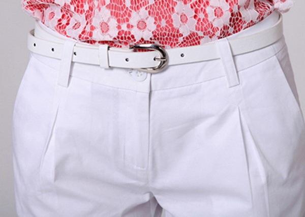 TLZC Korea Summer Woman Cotton Shorts Size S-2XL New Fashion Design Lady Casual Short Trousers Solid Color Khaki / White