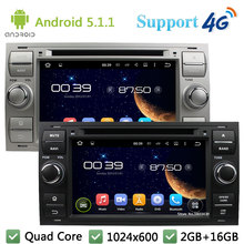 Quad Core 1024*600 Android 5.1.1 Car DVD Player Radio Stereo 4G WIFI GPS Map For Ford Focus Mondeo Kuga C MAX MAX Galaxy Fiesta