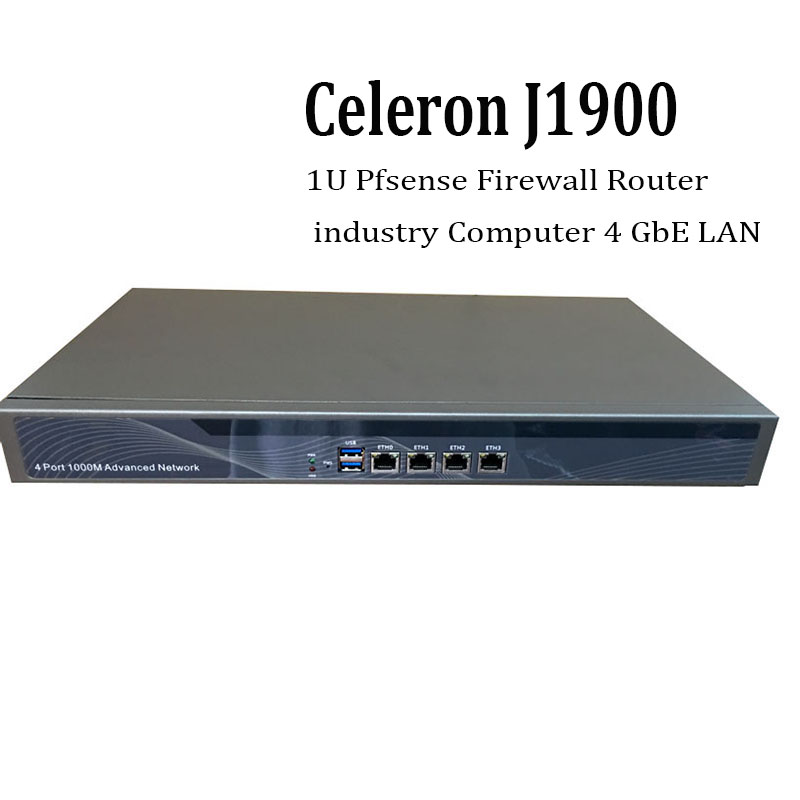 1U Pfsense Celeron J1900 Quad Core Network Security Control