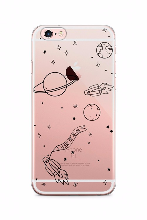 HTB1K.vJNVXXXXbPXFXXq6xXFXXXb - I Need My Space Planet Rocket Outer space transparent soft silicone case cover for iPhone7 7plus 6S 6plus 5S SE PTC 24