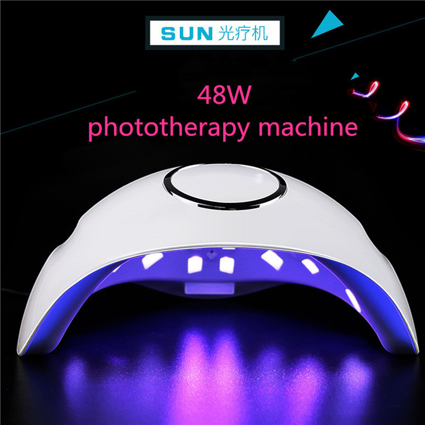 Новый SUN5S 48 Вт двойной свет Сушилка для ногтей фототерапии отверждения ногтей Гель лак 365 + 405NM автоматический Сенсор Светодиодный УФ ЛАМПА Маникюр Инструмент