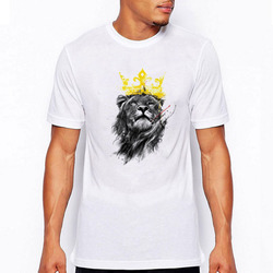 2016 fashion mens tshirts summer short sleeve king of lion printed t shirt tee shirts o.jpg 250x250