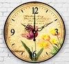 Garden Style Flower Silent Quartz Clock Art Style Home Living Room Creative Decoration Wall Clock
