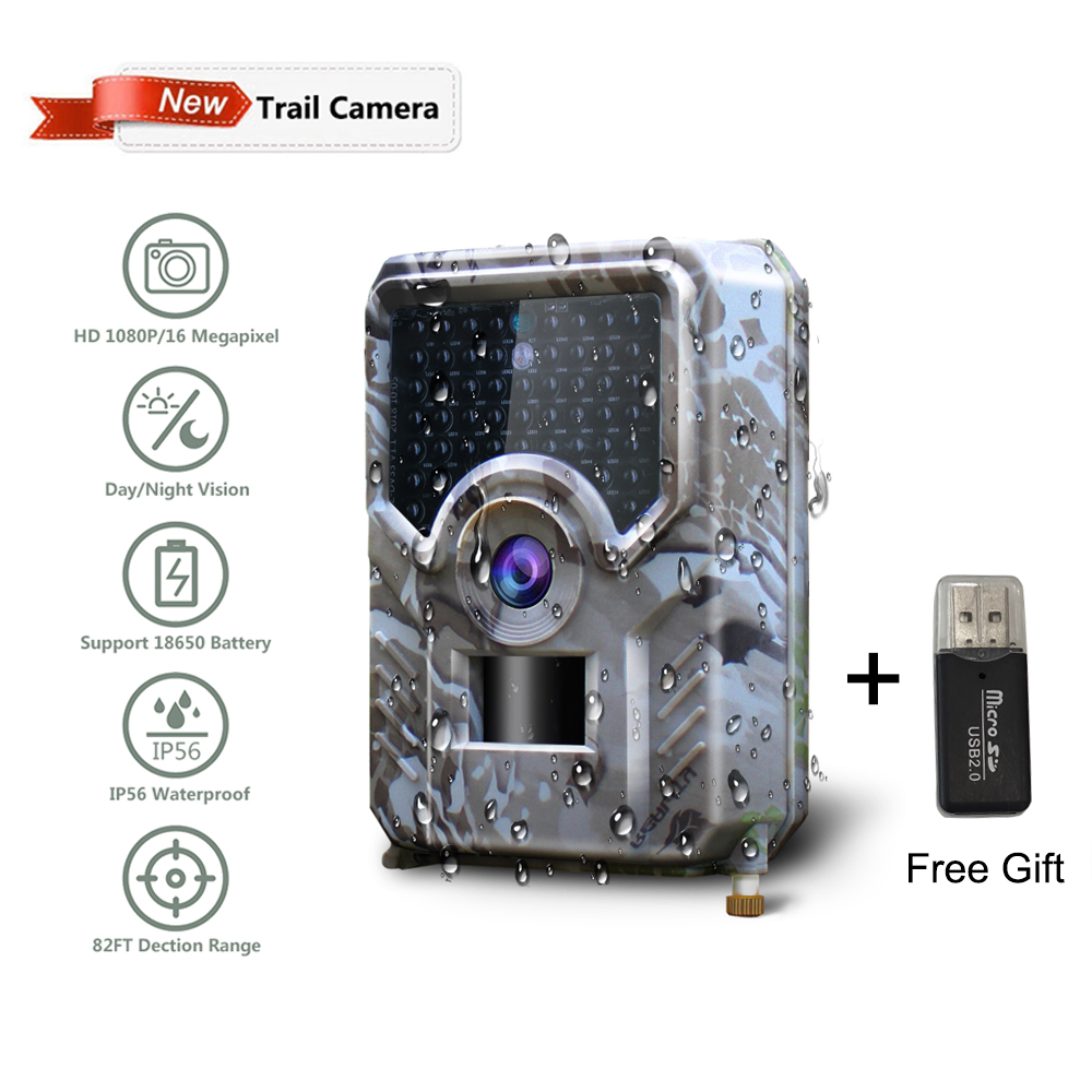 PR-200 12MP 49pcs 940nm IR LED Hunting Camera 18650 Battery Wildlife Camera Night Vision Photo Traps Infrared Cam Hunter Tools