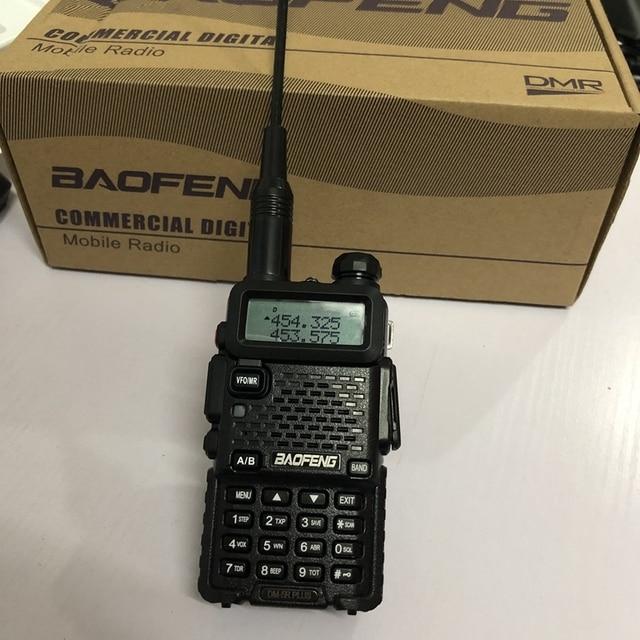DM 5Rplus talkie walkie double bande DM 5R plus talkie walkie numérique 2000mAh batterie DMR + analogique 10km pour la chasse