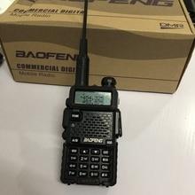DM 5Rplus walkie talkie banda dupla DM 5R mais digital walkie talkie 2000mah bateria dmr + analógico 10km para a caça