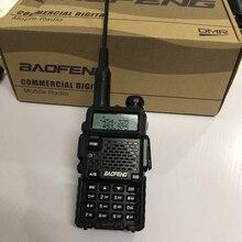 DM 5Rplus walkie talkie dual band DM 5R plus Digitale Walkie Talkie 2000mAh batterie DMR + analog 10km für jagd