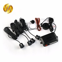 4 Sensors Buzzer Car Parking Reverse Backup Radar Sound Alert Indicator System Kit 12V 7 Colors