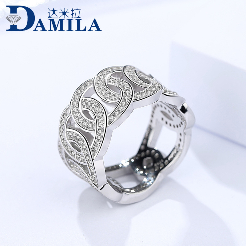 цена на Fashion 925 Sterling Silver Rings For Women Retro cubic zirconia stone silver ring for ladies