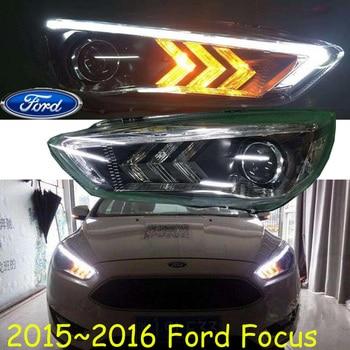 2012~2014/2015~2017y car bumer head light for Ford Focus headlight car accessories LED DRL HID xenon fog for Focus headlamp