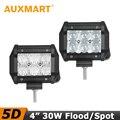 Auxmart 5D CREE chips 30W 4 inch LED Work Light Flood/Spot Beam Led Light 12V 24V Truck Motorcycle ATV 4x4 Driving Fog Lights