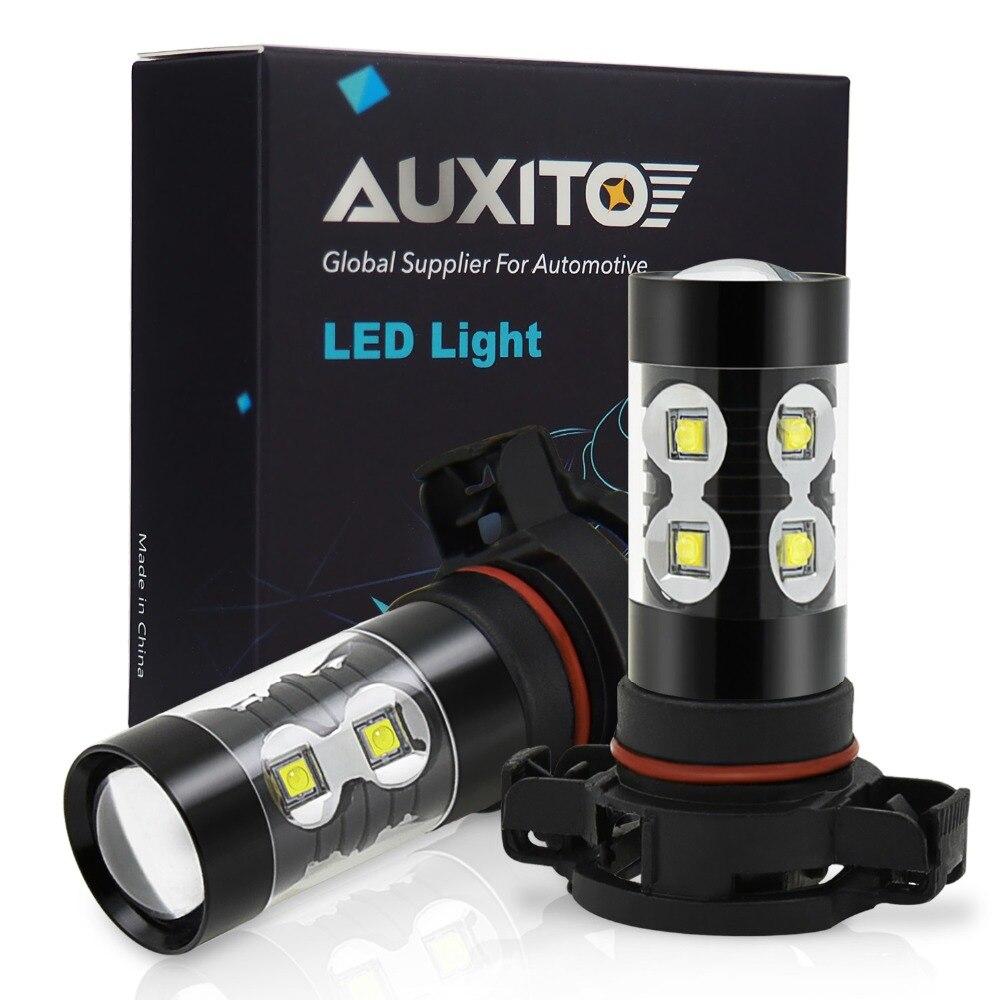 2 piezas H16 LED Luz de niebla PSX24W HB4 H11 H8 H10 bulbo Auto 9006, 880, 881, 50 W llevó la bombilla coche luz diurna DRL lámpara 6500 K blanco