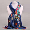 Cuadrado grande Bufanda de Seda Twill Para Mujeres de Las Señoras Primavera Verano Bufandas Mujer Original de la Marca Chales Y Bufandas Wraps 100*100 cm