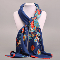 Large Square Silk Scarf For Women Ladies Spring Summer Scarves Female Original Brand Shawls And Scarves