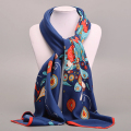 Large Square Twill Silk Scarf For Women Ladies Spring Summer Scarves Female Original Brand Shawls And Scarves Wraps 100*100cm