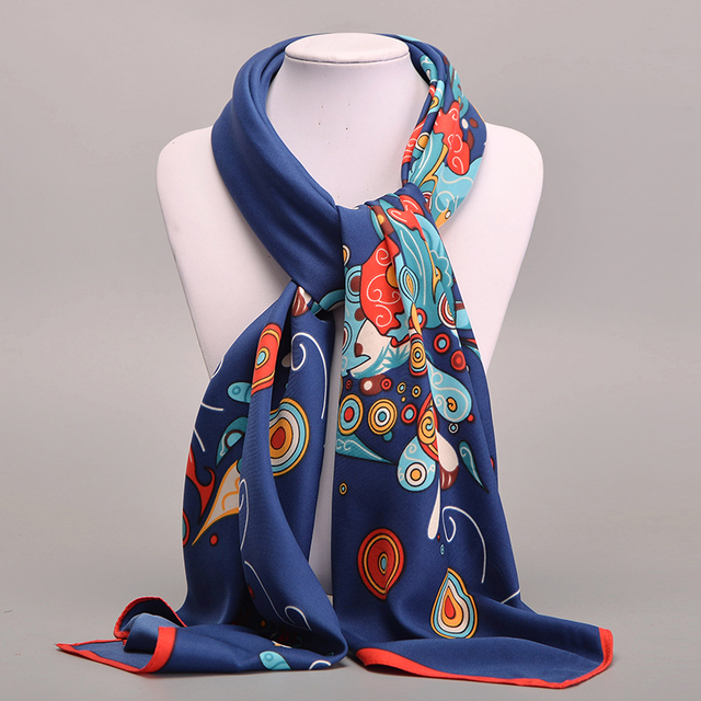 Large Silk Scarf Floral Crabs | Lightweight Scarves