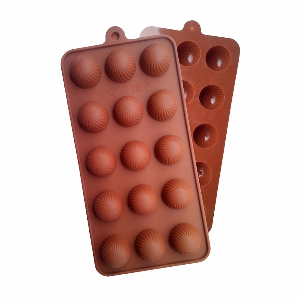 ღ ღSilicona 15-cavidad Round trufa de chocolate, caramelo y Molde ...