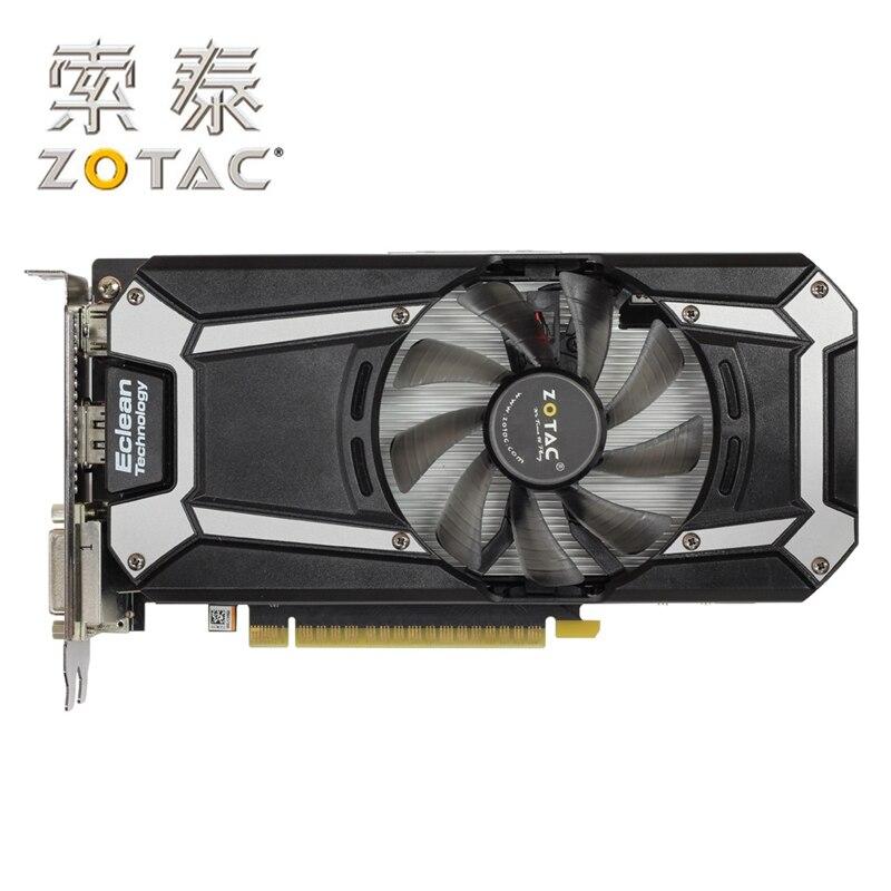Original ZOTAC Video Cards GTX750-1GBD5 Thunder Edition PA 128Bit GDDR5 Graphics Cards GPU Map GTX750 1G D5 750-1GB Used