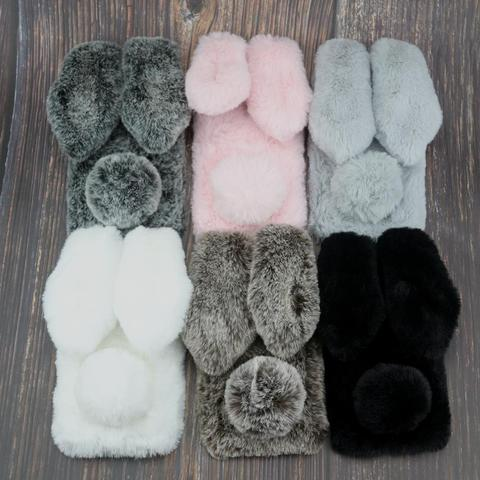 Rabbit Fur Cases For Xiaomi Pocophone F1 Mi 6X A2 Lite 5X 5S 5 5C A1 8 9 MAX 3 2 Mix Note 3 6 Play CC9 CC9E A3 Lite 9T Pro Cover Pakistan