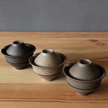 1Set Ceramic Japanese Tea Cup Set Portable Travel Teaware Kung Fu Tea Cup 1 Pot 2 Cups Home Office Vintage Drinkware Gaiwan