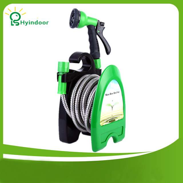 Anti Abrasion Micro Hose Reel Set Watering Irrigation Stainless Steel Garden  Hose Pipe Reel
