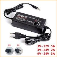 Регулируемый AC к DC 3 V-12 V 3 V-24 V 9 V-24 V универсальный адаптер с экран дисплея напряжение регулируемый источник питания adatpor 3 12-24 v