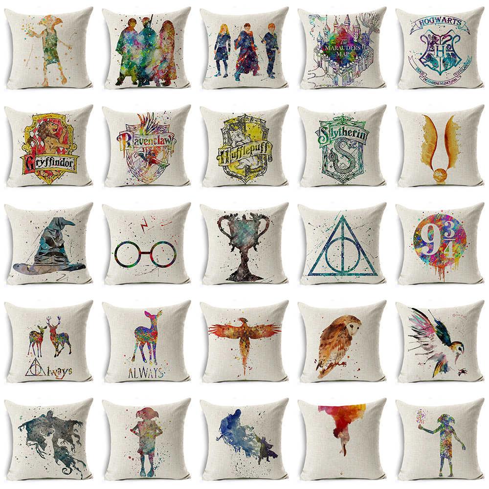 Harry Potter Magia Monily Cálice de Fogo As Relíquias da morte de Linho de Algodão Capa de Almofada Casa Decorativo Fronha para o Sofá