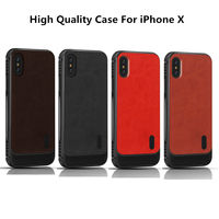 Magnetic Absorption Protective Cover Coque For IPhone X 8 7 Case Shockproof TPU Back Cover Leather
