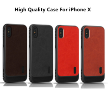 купить Magnetic Absorption Protective Cover Coque For iPhone X 8 7 Case Shockproof TPU Back Cover Leather Case For iPhone 8 7 Plus X дешево