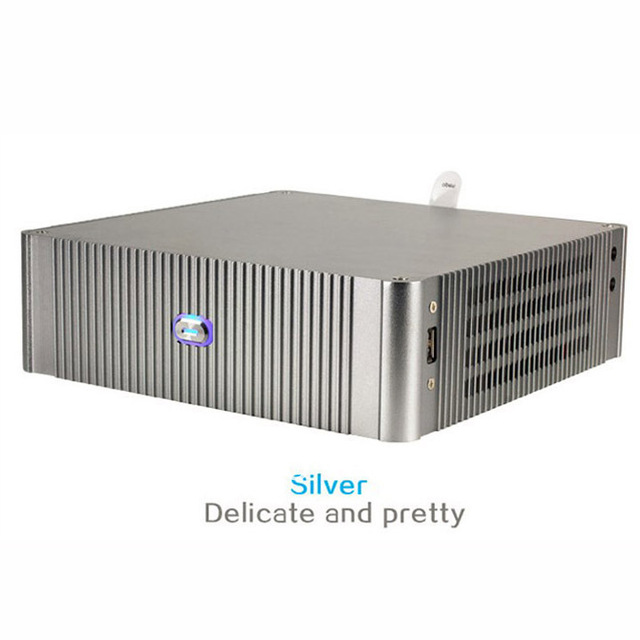 New E-N3 Industrial Industrial ITX HTPC chassis supports e-n3 aluminum itx case support wall mount
