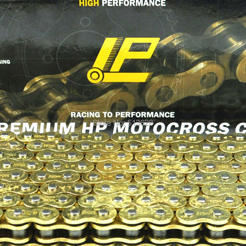 520 Pitch 122 Link Heavy Duty O-ring Motorcycle Chain for Yamaha TTR 225 230 250 TT 250 350 600 YZ WR 250 400 426 450 F IT175 цена 2016