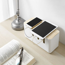Cable Storage Box Power Plug Socket Anti-dust Storage Box Cable Wire Cord Organizer Box orico cmb18 abs electrical socket storage box power cable manager case