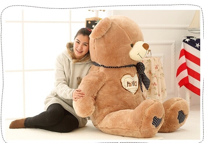 130cm hello love sweet teddy bear plush toy bear doll , Christmas gift b7817 super cute plush toy dog doll as a christmas gift for children s home decoration 20