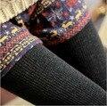 Frete grátis lã inverno mulheres calças Pantyhouse footless quente térmica malha