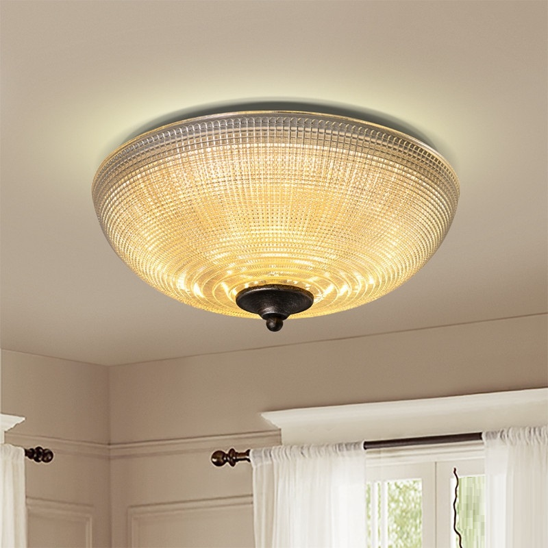 IWHD Nordic Ceiling Lamp Vintage Glass Led Ceiling Lighting Bedroom Avize Home Lighting Two-Color Adjustable Light Fixtures