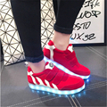 Brand 8 Cores Led Sapatos para Mulheres Casuais ShoesLed Sapatos luminosos Hot Led Luz Moda sapatos para Mulheres Tamanho 35-40