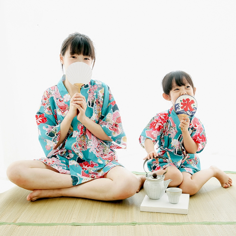 2017 autumn lovely silk bathrobe child satin kimono robes floral robes bridesmaids kimono robe flower satin silk dressing gown