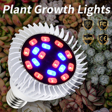 LED Greenhouse Plant Light 18W E27 Grow Hydroponics Bulbs 220V E14 Growbox Seedling 110V Indoor Phyto Lamp